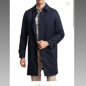 NWT Saks Fifth Ave compact rain trench coat